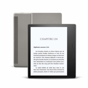 Liseuse Kindle Oasis de face et de derrière