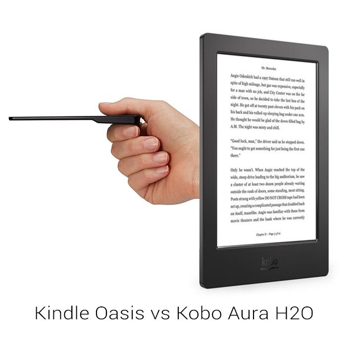 comparaison kindle oasis kobo aura h20