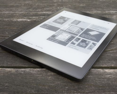 Nouvelle liseuse en photo kobo aura one