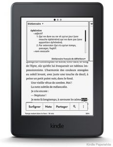 La liseuse Kindle Oasis Amazon de face