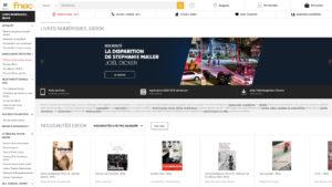 Capture du site internet de la Fnac pour acheter des ebooks