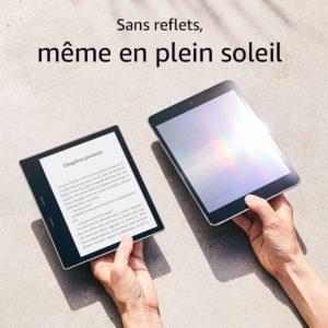 Kindle au soleil comparatif anti reflets sable