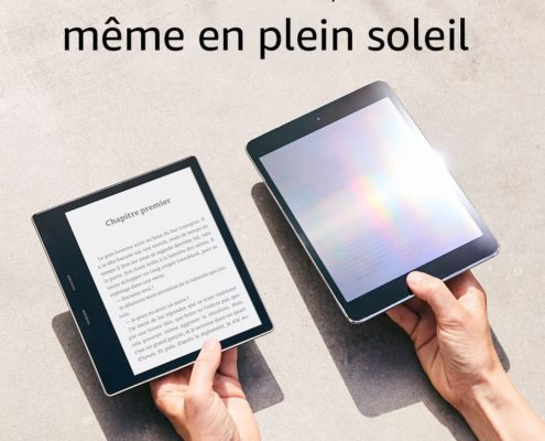 Kindle au soleil comparatif anti reflets sable