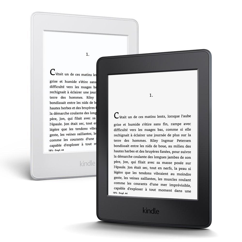 Deux liseuses kindle paperwhite noir et blanc